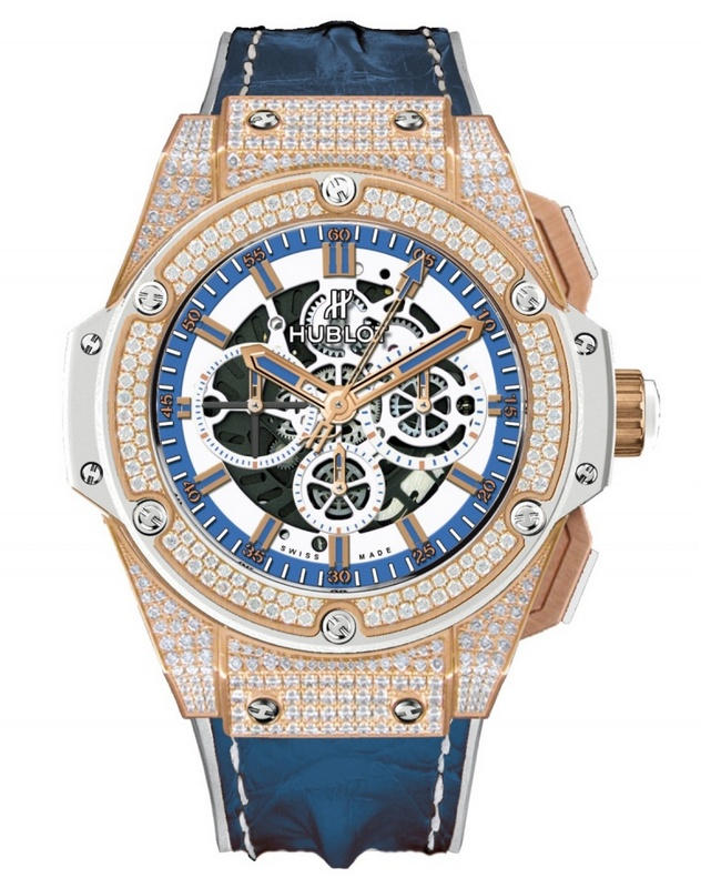 "Hublot King Power ""305"" Limited Edition Watch Diamonds"