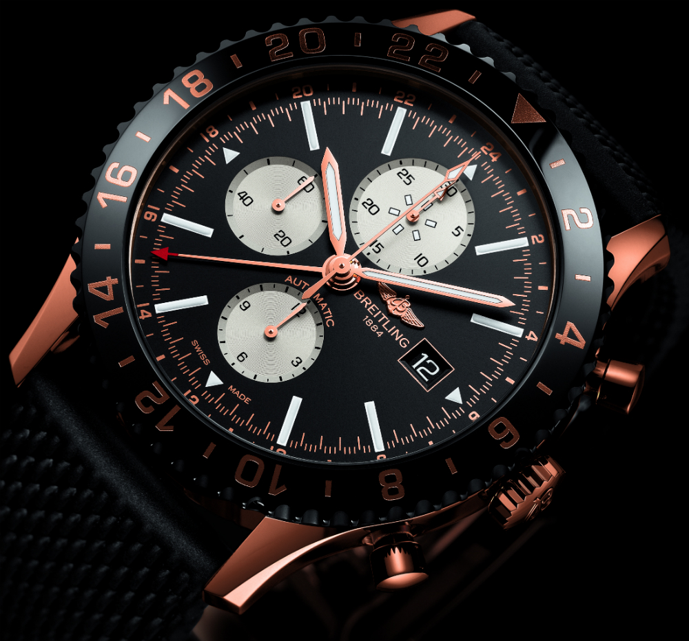 Take A Look At the Swiss Made Breitling Chronoliner Red Gold Limited Edition Replica Watch