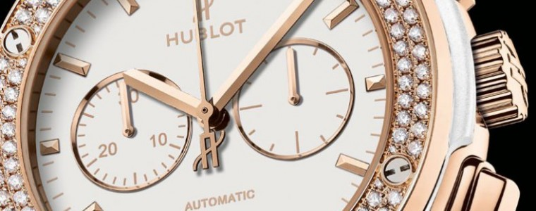 White Diamonds Hublot Classic Fusion Chronograph Copy Watch