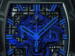 Black Ceramic Hublot Spirit of Big Bang Bruce Lee Be Water Chronograph Skeleton Copy Watch