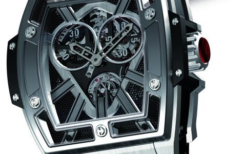 The Tonneau Shaped Replica Hublot Masterpiece MP-01 Flyback Chronograph Watch