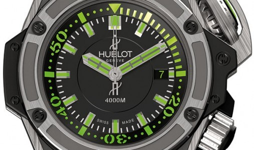 Swiss Made Exclusive Replica Hublot King Power 4000m Diver Titanium Watch