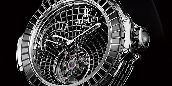 Swiss Made Unique Fake Hublot Black Caviar Bang Tourbillon Watch
