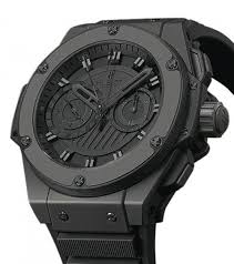 The All Black Ceramic Hublot King Power Foudroyante Watch Replica