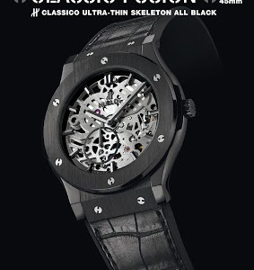 Closer Look At The Black Ceramic Hublot Classic Fusion Extra-Thin Replica Watch