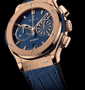 2013 New Fake Blue Dial Hublot Classic Fusion Chronograph Replica Watch