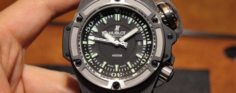 The All Black and Titanium Hublot Oceanographic 4000 Replica Watch For Sale