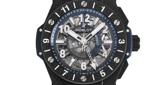 Review The Skeleton Blue Hublot Big Bang Unico GMT Carbon or Titanium Replica Watch