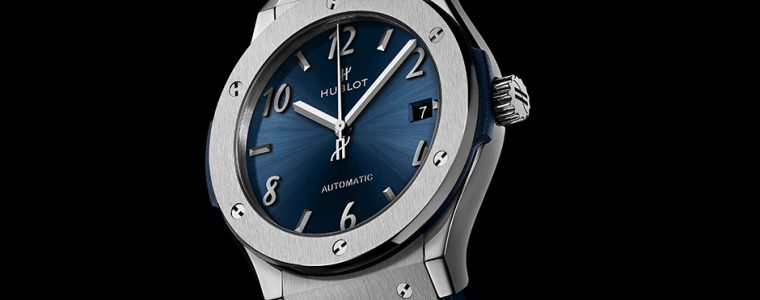 Best Swiss Hublot Classic Fusion Blue Titanium Replica Timepiece For Sale