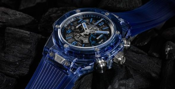 2017 Hublot Big Bang Unico Sapphire Blue Replica Watch with Rubber Strap