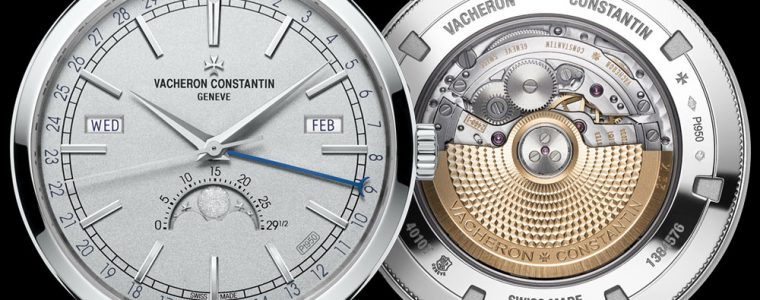 Japanese Movement Replica Vacheron Constantin Traditionnelle Total Calendar Collection Excellence Platine Watch