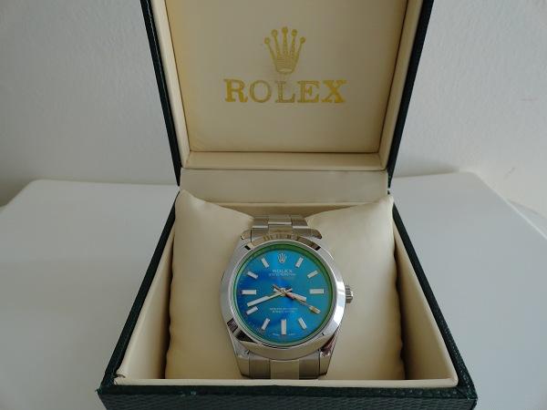 Rolex Milgauss Blue Dial Fake Watch