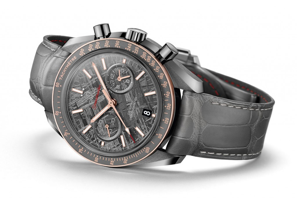 """The Cool, Masculine Omega Speedmaster Grey Side of the Moon """"Meteorite"""" Replica Watch"""