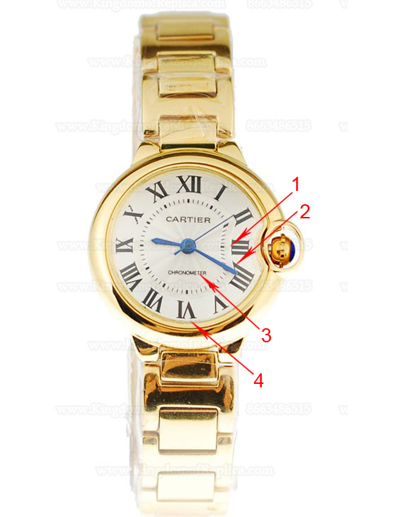 The Luxury And Elegant Cartier Ballon Bleu de Cartier Gold Replica Watch