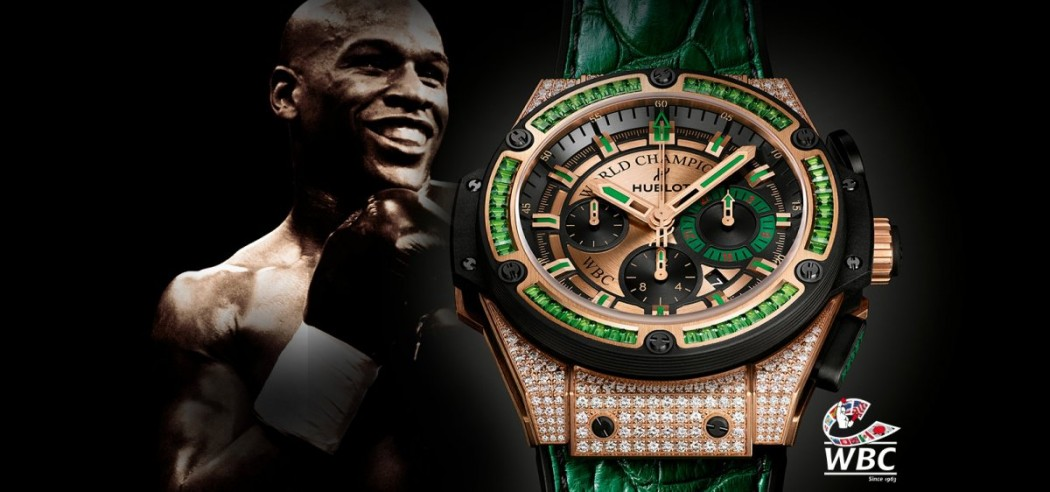 Up Close With The Typical Hublot King Power WBC Full Pavé Replica Timepiece