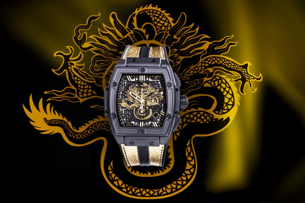 Introducing The Typical Hublot Spirit of Big Bang Bruce Lee Skeleton Chronograph Leather Strap Watch Replica
