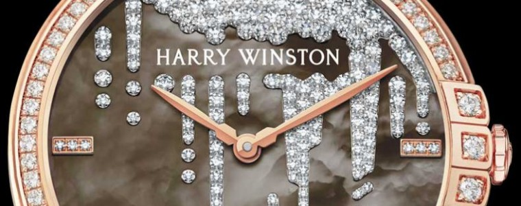 The Remarkable Ladies' Rose Gold Harry Winston Midnight Diamond Stalactite Motif Automatic Timepiece
