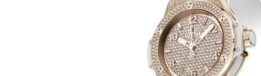 The Elegant Hublot Big Bang Full Gold Pave-Set Diamonds Ladies' Watch Replica Ref. 361.PE.9010.RW.1704