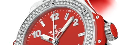 Ladies' Hublot Big Bang Red Dial Replica Watch for Valentine's Day 2010