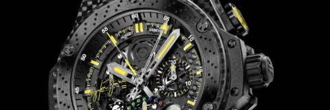 The Perfect Mens Skeleton Hublot King Power Ayrton Senna Replica Watch