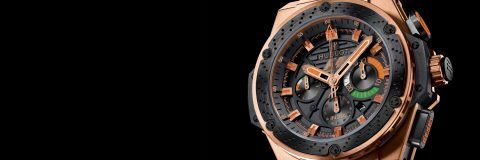 Reviewing The Most Famous 18K King Gold Hublot F1 King Power India Replica Chronograph Watch