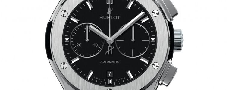 The Mens Hublot Classic Fusion Titanium Black Dial Automatic Watch 521.NX.1171.LR
