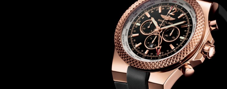 Up Close With The Rose Gold Breitling for Bentley GMT Chronograph Watch Replica