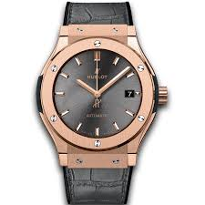 Hublot Classic Fusion Racing Automatic Date King Gold Grey Dial Watch Replica Ref.511.OX.7081.LR