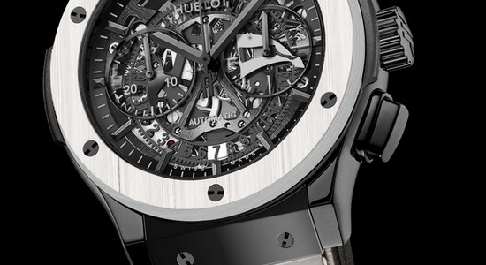 Hands-on Swiss Hublot Classic Fusion Aerofusion Chronograph Skeleton Dial Watch Replica