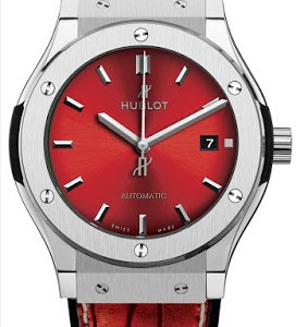 "Polished Red Hublot Classic Fusion ""The Island"" Titanium Case Replica Watch"