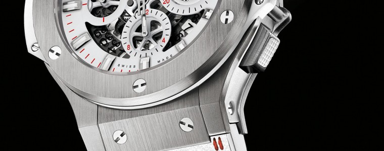 Meet The Swiss Hublot Aero Bang Skeleton All White Chronograph Watch Replica
