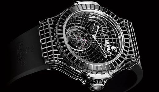 18 Karat White Gold Hublot Big Bang Caviar Bang Replica Watch