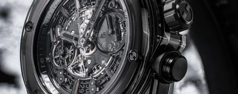 Best Swiss Skeleton Dial Hublot Big Bang Unico Sapphire All Black Replica Watches