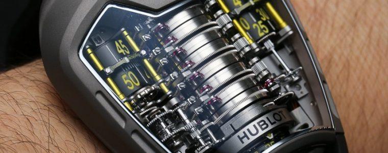 High Grade Hublot MP-05 LaFerrari Ferrari Titanium Yellow Watch Hands-On Replica Watches Young Professional