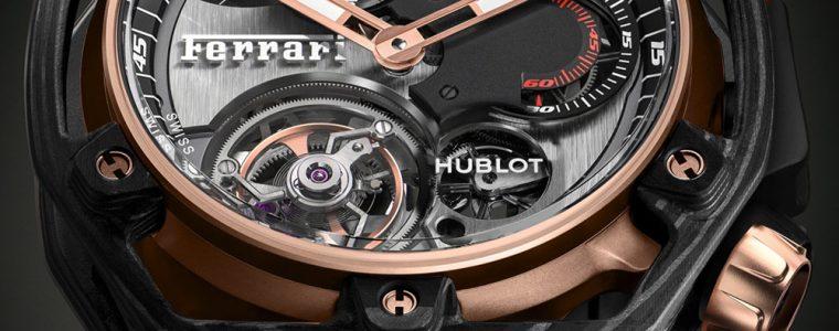 Top 10 Hublot Techframe Ferrari 70 Years Tourbillon Chronograph Watch In PEEK Carbon & King Gold Japanese Movement Replica