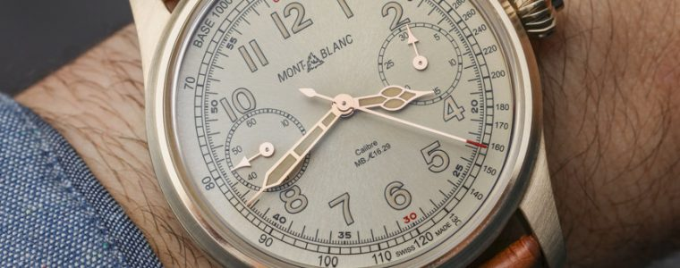 Montblanc 1858 Chronograph Tachymeter Bronze Watch Hands-On Replica Watches Online Safe