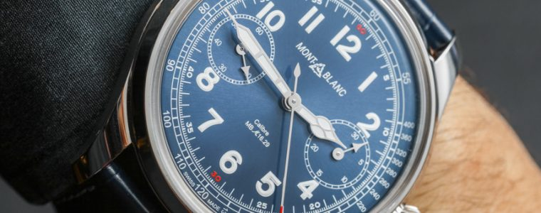 Montblanc 1858 Chronograph Tachymeter Limited Edition Watch Hands-On Replica At Best Price